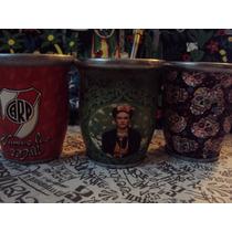 Mates De Diseño Frida Kahlo Original Unico Calaveras Y River