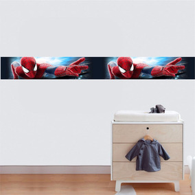 Adesivo Papel Parede Faixa Super Heroi Ben 10 Homem Aranha