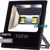 Refletor Led 100w Holofote Bivolt Prova Dágua Branco Frio Ip