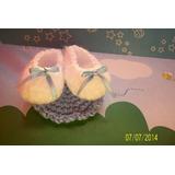 Souvenir Escarpines Tejidos Al Crochet P/nacimiento Baby-sh