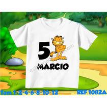 Camiseta Garfield Infantil Chapolin Tom E Jerry Bob Esponja