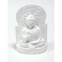 Piezas De Yeso. Buda Hindu Feliz, Meditando (con Respaldo).