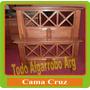 Cama De Algarrobo De 1 Plaza Cruz
