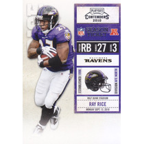 2010 Playoff Contenders Season Ticket Ray Rice Rb Ravens