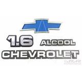 Emblemas 1.6 Alcool Chevrolet + Gravata - Chevette 1983 À 86