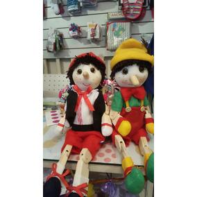 Muñecos De Pinocho Artesanales 70 Cm