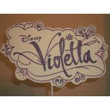 Adorno Pinche Torta - Violeta - Goma Eva 23 Cm X 13 Cm