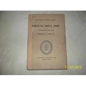 Libro Poeta En Nueva York De Federico García Lorca.