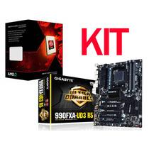 Kit Placa Mãe Gigabyte Ga-990fxa-ud5 Am3 Processador Fx-8350