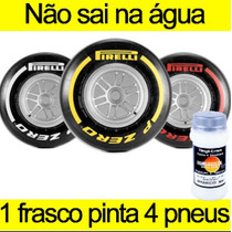 Tinta Pintar Pneu Amarela Caneta Pinta Pneu Carro Moto 100ml