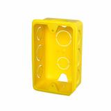 Caixa De Luz De Embutir 4x2 Amarela - Krona- 100 Pçs