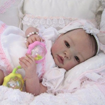 Bebê Boneca Reborn Bruna Boneca Barata Detalhes Reais