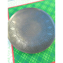 Plato En Bronce Grabado Para Colgar D: 19.5 Cm