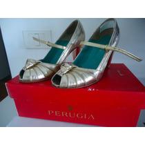 Zapatos De Fiesta Perugia Dorados