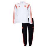 Agasalho adidas Flamengo Viagem Completo Branco 2014 Tam Gg
