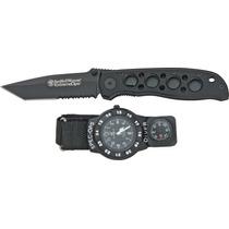 Swwso2 Smith & Wesson Extreme Ops Combo Navaja Y Reloj