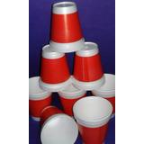 Vasos Termicos De Telgopor Estampado Rojo Descartables