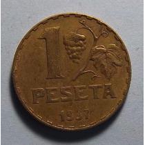 España 1 Peseta 1937 Excelente Km 755 Republica Española