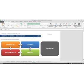 Planilha Excel Registro De Vendas E Recebimentos