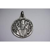 Medalla Grande De San Benito En Plata 950.