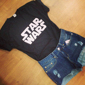 Camiseta Star Wars Preta E Branca Do Pp Ao Gg