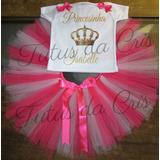 Fantasia Tutu Infantil Princesinha Personalizada 1a8 Anos