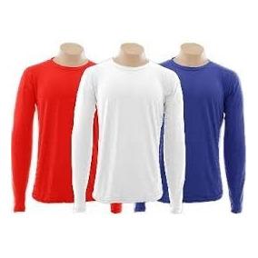 Camisetas Manga Longa 100% Algodão