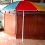 Sombrillas De Plastico Para Ventas Ambulantes O Playa