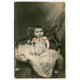 Antigua Foto Postal Galassi Retrato De Bebe Rafaela Santa Fe