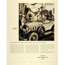 Lienzo Tela Publicidad Anuncio Chevrolet Six 1932 80 X 50 Cm