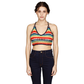 Mixed Top Crochet Mujer Muaa Oficial
