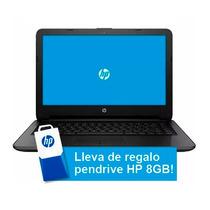 Notebook Hp 245 G4 Amd E1-6015 + Pendrive 8gb Hp