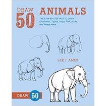 Libro Dibuja 50 Animales En Inglés Niños Adulto Envio Gratis