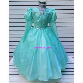 Disfraz Vestido Princesa Ariel La Sirenita Elsa Frozen Anna