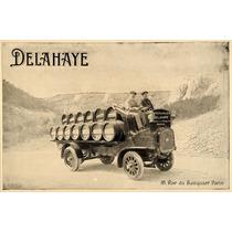 Lienzo Tela Publicidad Anuncio Auto Delahaye 1914 50 X 80 Cm