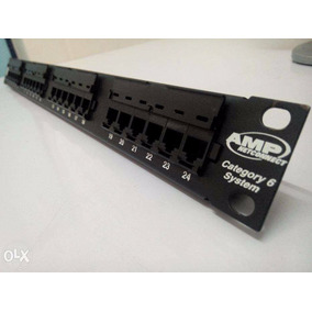 Patch Panel Amp Tyco/commscope 24 Portas Cat6