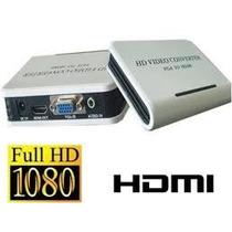 Convertidor Digital Vga Con Audio 3.5 A Hdmi + Full Hd + New