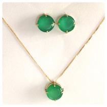 Pingente Crisopázio Pedra Verde Ouro 18k