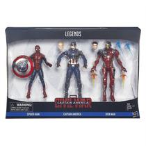 Marvel Legends Civil War Set Spider-man,capitán,iron Man2016