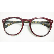 Armacao Oculos Lente Transparentes Feminino Redondo Promocao