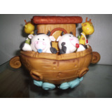 El Arca De Noe Con Animalitos Bebe (en Porcelana Fria)