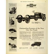 Lienzo Tela Poster Anuncio Chevrolet Truck 1925 80 X 50 Cm