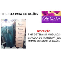 Kit Tela Branca Para 336 Balões + Brinde. Provençal, Pds,tdb