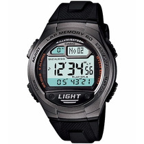 Relógio Casio W-734 1av Memória 60 Voltas 5 Alarmes Wr100 Pt