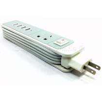 Multicargador 4 Usb Carga Rapida 4.8amp Y Contacto Universal