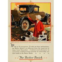 Lienzo Tela Publicidad Anuncio Automóvil Buick 1925 80 X 50