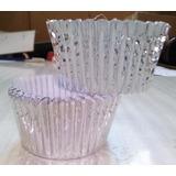 Pirotines Cupcakes Metalizado Nº 10 X 10 U. Color: Plata