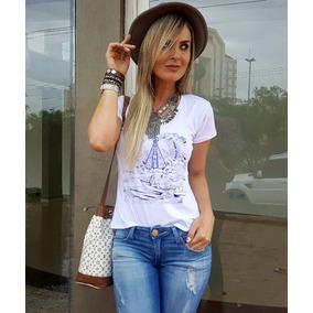 Camiseta Feminina Santa T Shirt Aparecida Blusa Religiosa