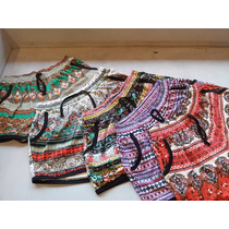 Kit Com 5 Shorts Com 2 Bolso Em Malha Estampada