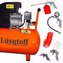 Compresor Lusqtoff 50 Lts 2.5 Hp + Kit 5 Pcs Compresor